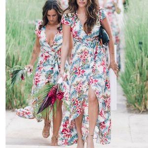 XIX Palms wrap dress